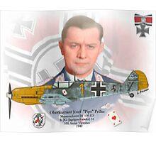 "Oberleutnant Josef ""Pips"" Priller Poster"