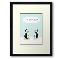 Dress code penguins Framed Print