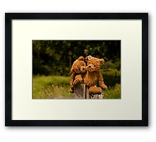 Bear couple in love Framed Print