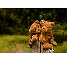 Bear couple in love Photographic Print