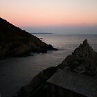 Polperro Harbour at Dusk by Helen Patmore