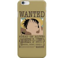 Monkey D Luffy iPhone Case/Skin