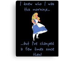 Alice in Wonderland (quote) Canvas Print