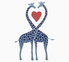Giraffes in Love - A Valentine's Day Illustration Kids Clothes