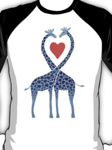 Giraffes in Love - A Valentine's Day Illustration T-Shirt
