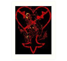Kingdom Hearts v2 Art Print