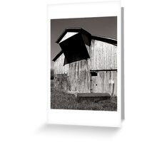Barn with casket Greeting Card