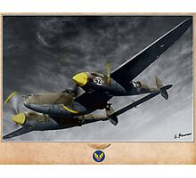 Lockheed P-38H Lightning Photographic Print