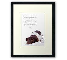 The dog remains Framed Print