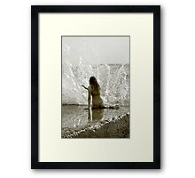 Playing the Water Harp Framed Print