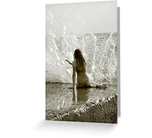 Playing the Water Harp Greeting Card