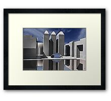 CUBIC-METALLIC-REFLECTION Framed Print