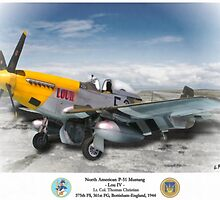 """North American P-51 """"Lou IV"""" by A. Hermann"""
