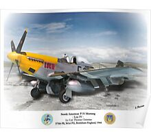 "North American P-51 ""Lou IV"" Poster"