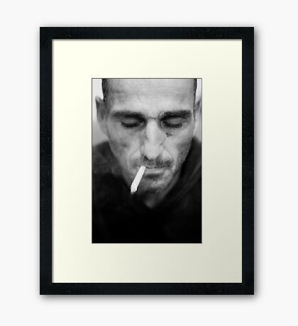 Smoking stranger Framed Print