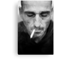 Smoking stranger Canvas Print