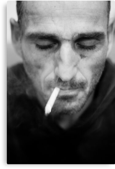 Smoking stranger by Victor Bezrukov