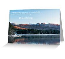 Christmas greetings with religious text Greeting Card