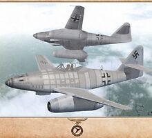 Messerschmitt Me-262A-2a  by A. Hermann