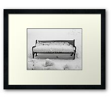 SNOW SCENE 8 Framed Print