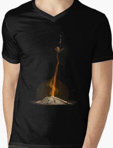 Bonfire  Mens V-Neck T-Shirt