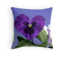 Pansy Heart Throw Pillow