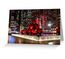 Merry New York Christmas holiday card Greeting Card