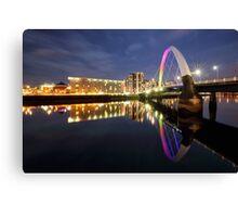 Glasgow Clyde Arc Bridge Canvas Print