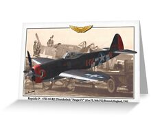 Republic P - 47D-10-RE Thunderbolt Greeting Card