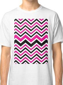 Retro Zig Zag Chevron Pattern Classic T-Shirt