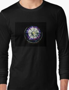 A Dazzling Stained Glass Jewel Emerging From the Darkness Long Sleeve T-Shirt