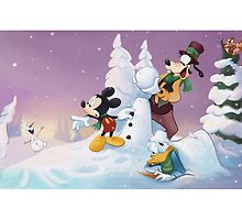 Mickey's Frozen Christmas by UnderArt