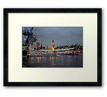 High tide on the Thames Framed Print