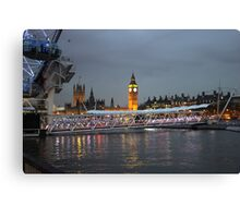 High tide on the Thames Canvas Print