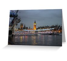 High tide on the Thames Greeting Card