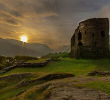 Dolbadarn Castle Sunrise.  by Darren Wilkes