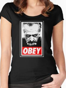 Obey Your Master! Women's Fitted Scoop T-Shirt