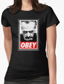 Obey Your Master! Womens Fitted T-Shirt