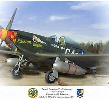 "North American P-51 ""Passion Wagon"" by A. Hermann"