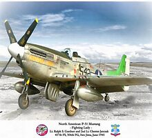 """North American P-51 """"Fighting Lady"""" by A. Hermann"""