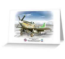 """North American P-51 """"Fighting Lady"""" Greeting Card"""