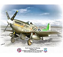"North American P-51 ""Fighting Lady"" Photographic Print"