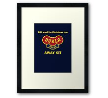 Dukla Prague Away Kit Framed Print