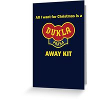 Dukla Prague Away Kit Greeting Card