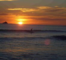 Sunset surfing by Fliss