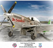 """North American P-51 """"The Enchantress"""" by A. Hermann"""