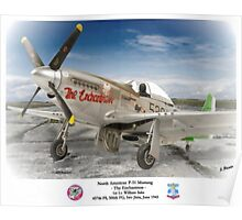 "North American P-51 ""The Enchantress"" Poster"