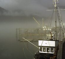 Morning Fog Juneau by EvaMcDermott