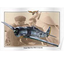 Focke Wulf Fw 190A1 - Horst Sternberg Poster