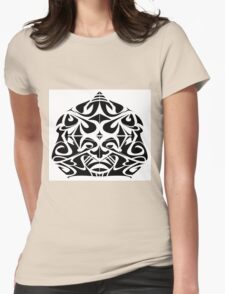 Tribal Mask Womens Fitted T-Shirt